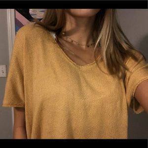 Yellow UO knit top